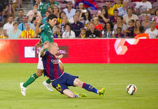 Jeremy Mathieu von FC Barcelona Lizenzfreies Stockbild