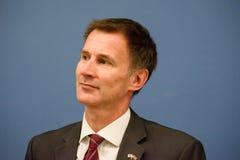 Jeremy polowanie, minister Cudzoziemski - sprawy Zjednoczone Królestwo obrazy stock
