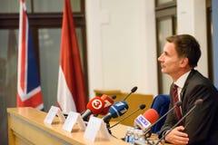 Jeremy polowanie, minister Cudzoziemski - sprawy Zjednoczone Królestwo zdjęcie stock