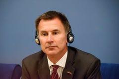 Jeremy polowanie, minister Cudzoziemski - sprawy Zjednoczone Królestwo zdjęcia stock