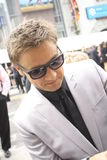 Jeremy Renner. Jeremy attends Avengers premiere in Hollywood royalty free stock image