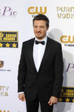 Jeremy Renner. LOS ANGELES, CA - JANUARY 16, 2014: Jeremy Renner at the 19th Annual Critics' Choice Awards at The Barker Hangar, Santa Monica Airport Stock Image