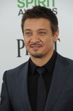 Jeremy Renner. SANTA MONICA, CA - MARCH 1, 2014: Jeremy Renner at the 2014 Film Independent Spirit Awards on the beach in Santa Monica, CA Stock Photo