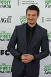Jeremy Renner. SANTA MONICA, CA - MARCH 1, 2014: Jeremy Renner at the 2014 Film Independent Spirit Awards on the beach in Santa Monica, CA Stock Image