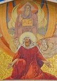 Jereusalem - o mosaico no portal da igreja de todas as nações (basílica da agonia) Foto de Stock