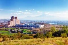 Jerevan, Αρμενία - 26 Σεπτεμβρίου 2016: Μια άποψη Jerevan από το μνημείο γενοκτονίας στην ηλιόλουστη ημέρα και άποψη σχετικά με A Στοκ Εικόνα