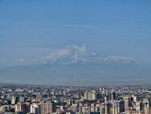 Jerevan, Αρμενία, στο υπόβαθρο του υποστηρίγματος Ararat Στοκ Φωτογραφία