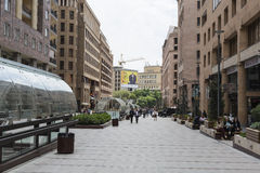 JEREVAN, ΑΡΜΕΝΙΑ 2 ΜΑΐΟΥ: Βόρεια λεωφόρος σε Jerevan στις 2 Μαΐου 2016 Στοκ Εικόνες