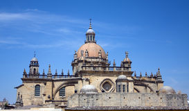 Jerez Cathedral in Andalusia, Spain. Scenic Images from Jerez de la Frontera, Andalusia, Spain stock images
