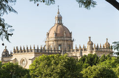Jerez de la frontera Cathedral, Spain.  royalty free stock images