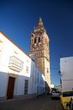 Jerez tower. Jerez de los Caballeros city at Badajoz Extremadura in Spain stock photos