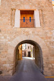 Jerica Castellon village arches in Alto Palancia of Spain Royalty Free Stock Photography