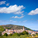 Jerica Castellon village skyline in Alto Palancia of Spain Stock Photography
