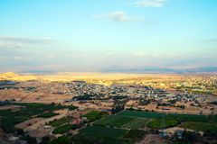Jericho - aerial view from Mount of Temptation. royalty free stock images