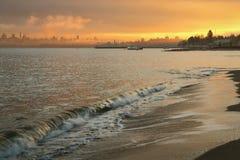 Jericho Beach Dawn Vancouver arkivfoton