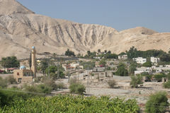 Jericho, Israel. City of Jericho in Judea desert, Israel Stock Photo
