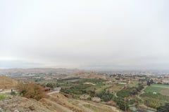 Jericho, Israel - 16 de fevereiro 2017 Vista da montagem da tentação em Jericho Fotos de Stock