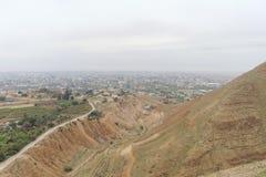 Jericho, Israel - 16 de fevereiro 2017 Vista da montagem da tentação em Jericho Fotografia de Stock