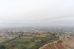 Jericho, Israel - 16 de fevereiro 2017 Vista da montagem da tentação em Jericho Foto de Stock