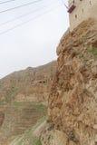 Jericho, Israel - 16 de fevereiro 2017 Vista da montagem da tentação em Jericho Foto de Stock Royalty Free