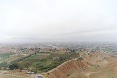 Jericho, Israel - 16 de fevereiro 2017 Vista da montagem da tentação em Jericho Imagem de Stock Royalty Free