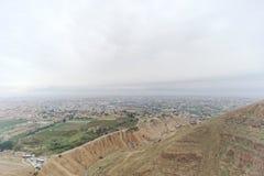 Jericho, Israel - 16 de fevereiro 2017 Vista da montagem da tentação em Jericho Imagens de Stock