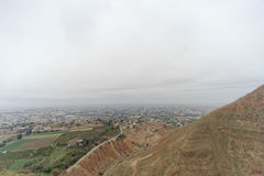 Jericho, Israel - 16 de fevereiro 2017 Vista da montagem da tentação em Jericho Imagem de Stock