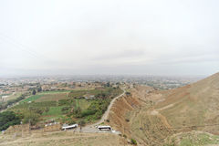 Jericho, Israel. - February 16.2017. View from the Mount of Temptation in Jericho. Royalty Free Stock Image