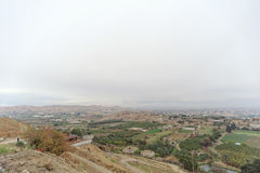 Jericho, Israel. - February 16.2017. View from the Mount of Temptation in Jericho. Stock Photos