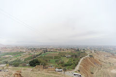 Jericho, Israel. - February 16.2017. View from the Mount of Temptation in Jericho. Royalty Free Stock Photography