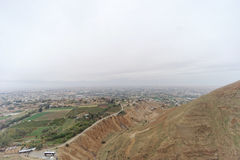 Jericho, Israel. - February 16.2017. View from the Mount of Temptation in Jericho. Royalty Free Stock Photos