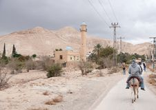 Jericho in judean desert Stock Images