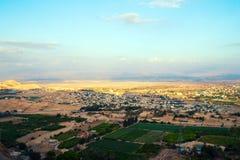 Jericho - Luftaufnahme von der Montierung der Versuchung. Lizenzfreie Stockbilder