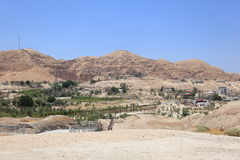 Jericho monteringen av frestelsen, Judea Arkivfoto