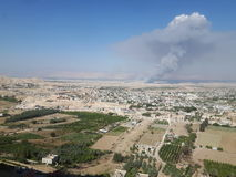Jericho Panorama royaltyfri fotografi