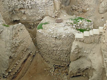Jericho: remains of towers and town walls stock photo