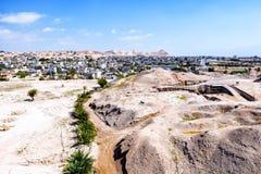 Jericho stad av palmträd arkivfoto