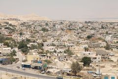 Jericho. Town cityscape from the mount of the Temptations, Pelestine, Israel Royalty Free Stock Photography