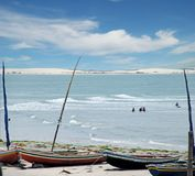 Jericoacoara Brasil. Tropical sea landscape with clouds Stock Images