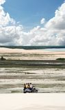 Jericoacoara Brasil. Tropical sea landscape with clouds Royalty Free Stock Photography