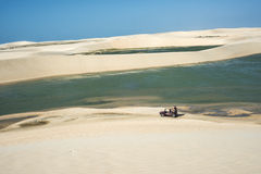 Jericoacoara, Ceara state, Brazil - July 2016: Buggy with touris Royalty Free Stock Images