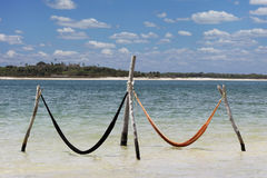 Jericoacoara Hammocks Stock Photos