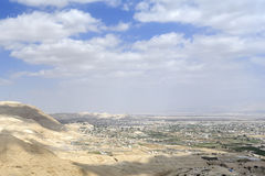 Jeriho cityscape from Judea desert. Stock Photo