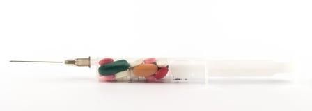 Jeringuilla con la medicina Imagen de archivo libre de regalías