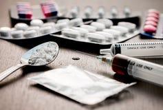 Jeringuilla de la droga imagen de archivo libre de regalías