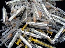 Jeringuilla de la insulina Fotografía de archivo