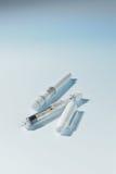 Jeringuilla hipodérmica de la insulina Imagen de archivo libre de regalías
