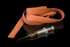 Jeringuilla y heroína de la droga Imagen de archivo
