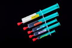 Jeringuillas anestésicas de la inducción Imagen de archivo libre de regalías