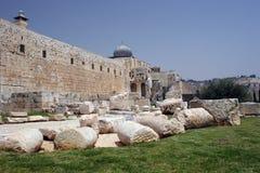 Jerisalem gammala stadsväggar Fotografering för Bildbyråer